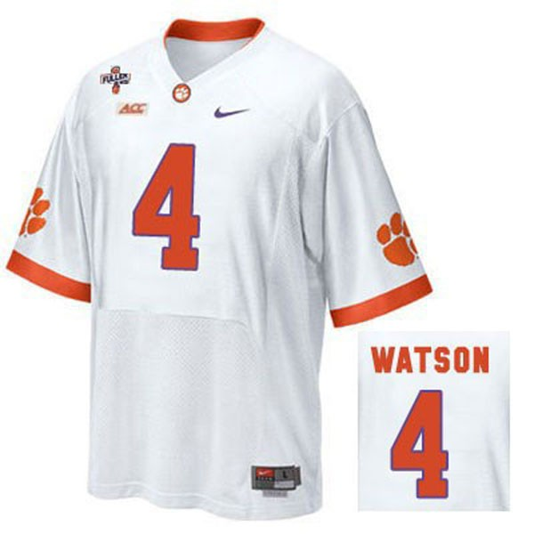 4 Deshaun Watson Clemson Tigers Jersey White - Deshaun Watson ...