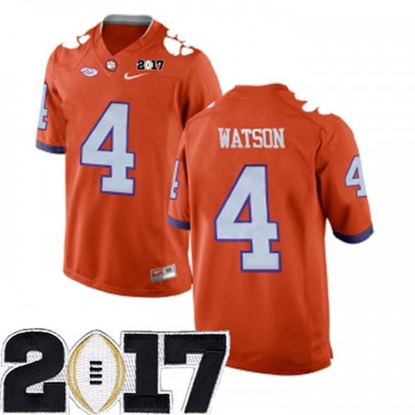 S-3XL Deshaun Watson Clemson Tigers #4 Stitched Men's Orange 2017 ...