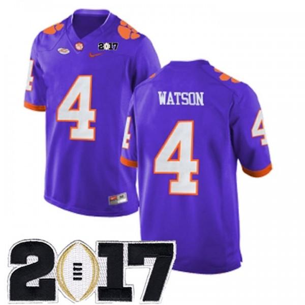 4 Men's Deshaun Watson Clemson Tigers Jersey Stitched Purple 2017 ...