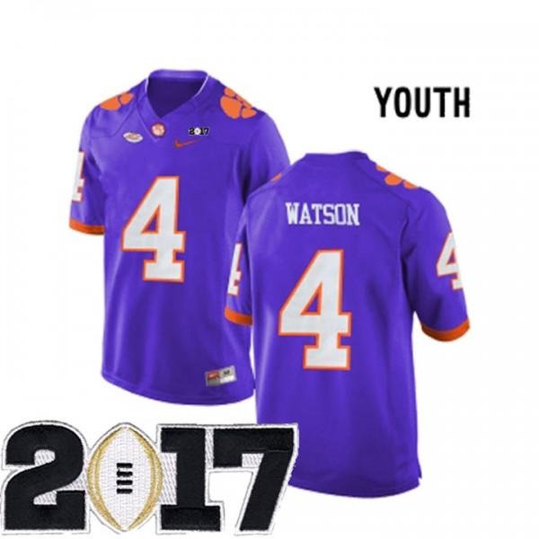 4 Deshaun Watson Purple Youth Stitched 2017 National Championship ...